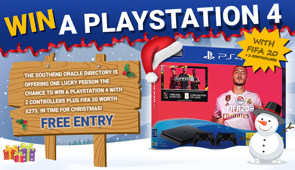 Win a PS4 with 2 Controllers plus Fifa 20