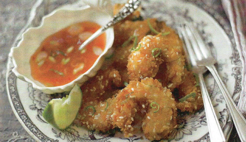 Cripsy prawns with zingy chilli