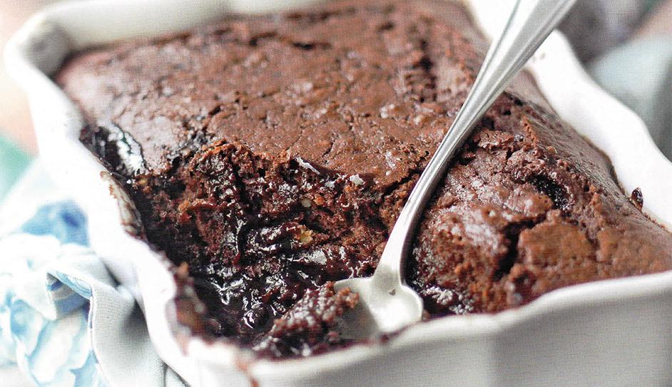 Self-Saucing Chocolate Orange pudding