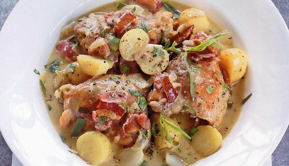 Chicken Bacon and Potato Braise