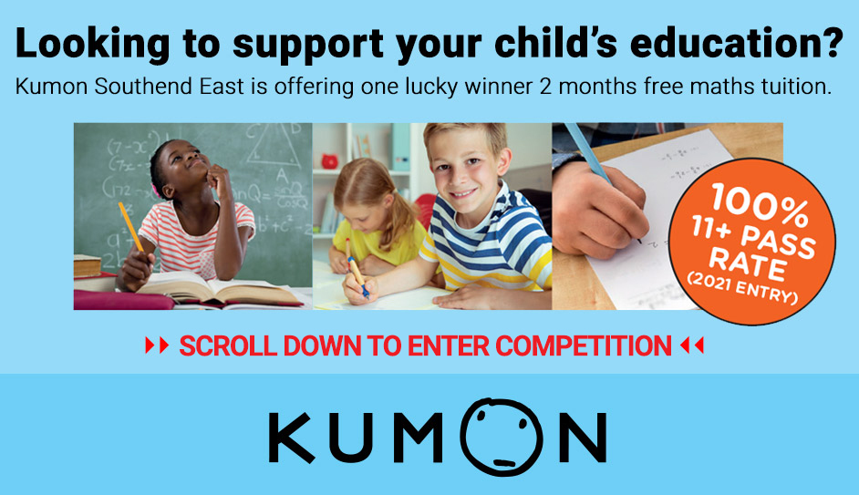 Kumon Southend East is offering one lucky child 2 months free maths tuition worth £170!